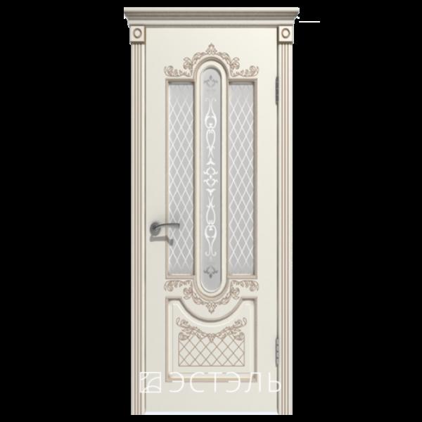 Дверь межкомнатная Эмалированная. Модель Александрия ДО Эмаль слоновая кость