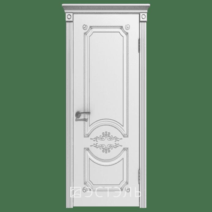 Дверь межкомнатная Эмалированная. Модель Милана ДГ Эмаль белая