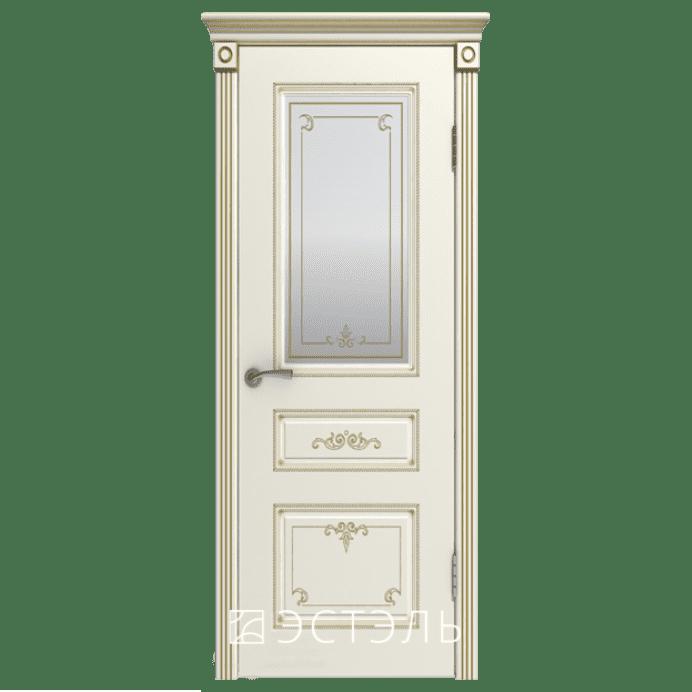 Дверь межкомнатная Эмалированная. Модель Вивьен ДО Эмаль слоновая кость