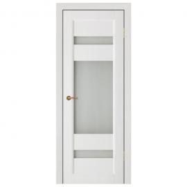 Дверь межкомнатная из массива сосны. Модель Леон ДО Белый
