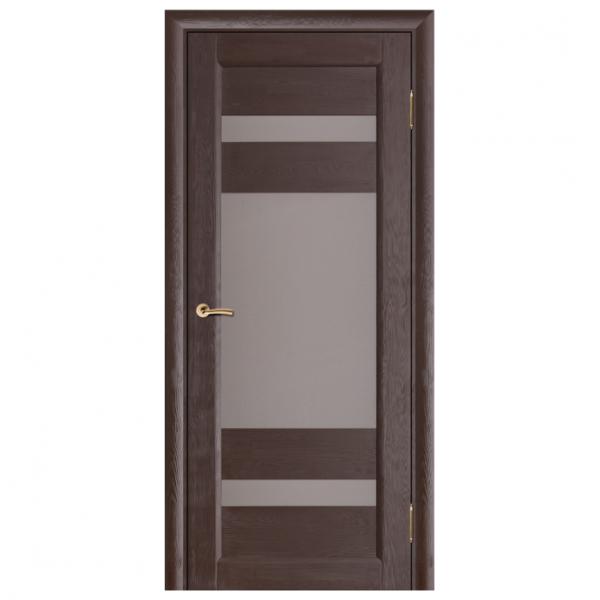 Дверь межкомнатная из массива сосны. Модель Леон ДО Венге