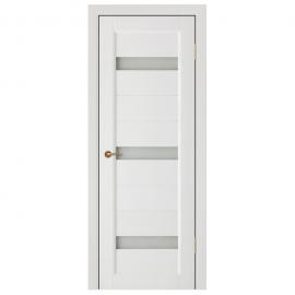 Дверь межкомнатная из массива сосны. Модель Леон ЧО Белый