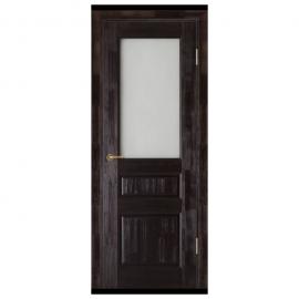 Дверь межкомнатная из массива сосны. Модель Леонардо ЧО Венге