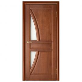 Дверь межкомнатная из массива сосны. Модель Моне ДО Махагон