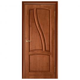 Дверь межкомнатная из массива сосны. Модель Рафаэль ДГ Махагон