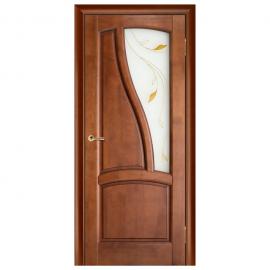Дверь межкомнатная из массива сосны. Модель Рафаэль ЧО Махагон