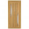 Дверь межкомнатная из массива сосны. Модель Вега 4 ЧО Светлый Орех