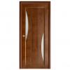 Дверь межкомнатная из массива сосны. Модель Вега 4 ЧО Темный Орех