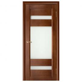 Дверь межкомнатная из массива сосны. Модель Вега 2 ДО Темный Орех