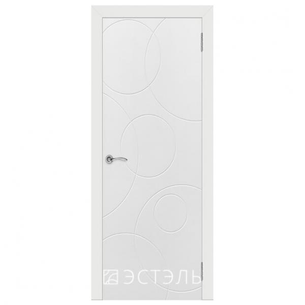 Дверь межкомнатная Эмалированная. Модель Граффити 4 ДГ Белая эмаль