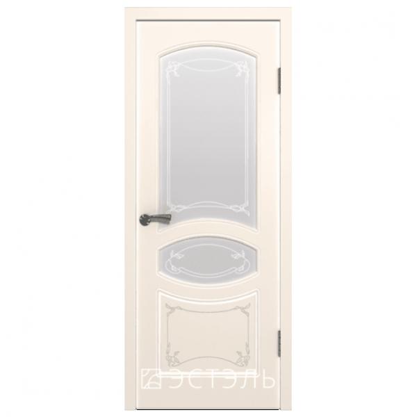 Дверь межкомнатная Эмалированная. Модель Версаль ДО Эмаль слоновая кость