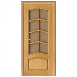 Дверь межкомнатная Шпонированная дубом. Модель Дельта ПО Дуб