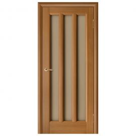 Дверь межкомнатная Шпонированная дубом. Модель Гутта ПО Орех