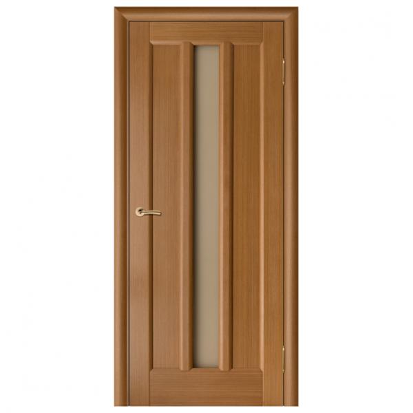 Дверь межкомнатная Шпонированная дубом. Модель Гутта ЧО Орех