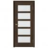 Дверь межкомнатная Шпонированная дубом. Модель Премьера 5 ПО Венге