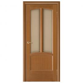 Дверь межкомнатная Шпонированная дубом. Модель Ветразь ПО Орех