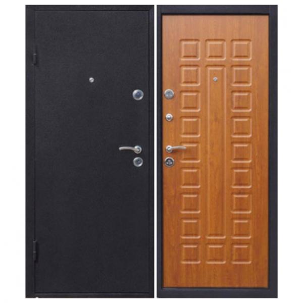 Дверь входная Йошкар с панелью золотистый дуб