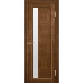 Дверь межкомнатная из массива сосны Вега 6 Темный орех