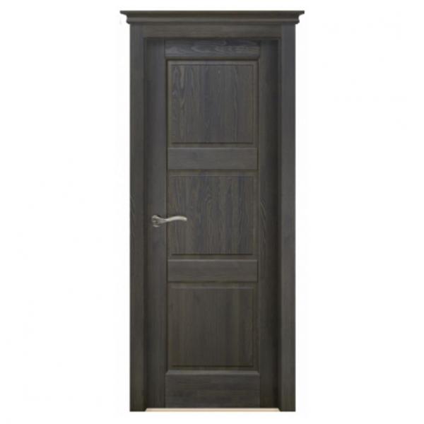 Межкомнатная дверь Массив структурированной сосны Этне ДГ. Античный Орех