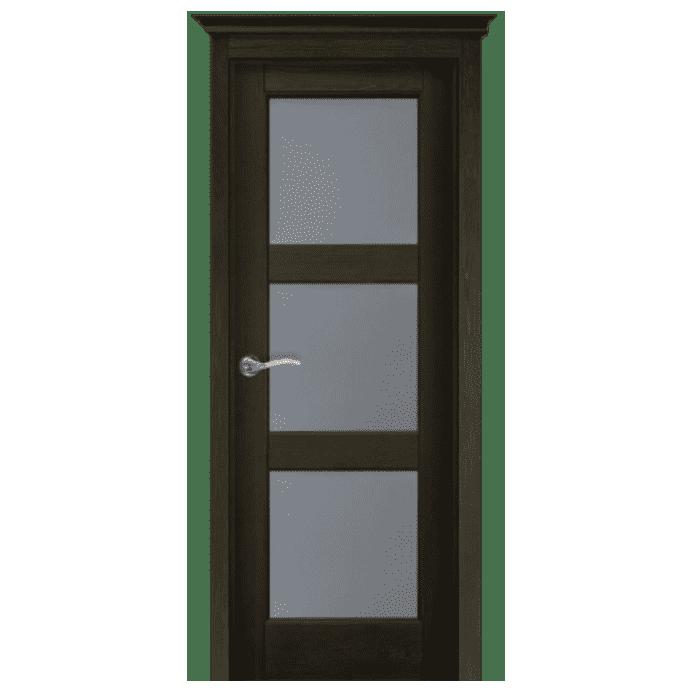 Межкомнатная дверь Массив структурированной сосны Этне ДО. Античный Орех