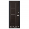 Дверь входная МеталЮр М17. Венге мелинга