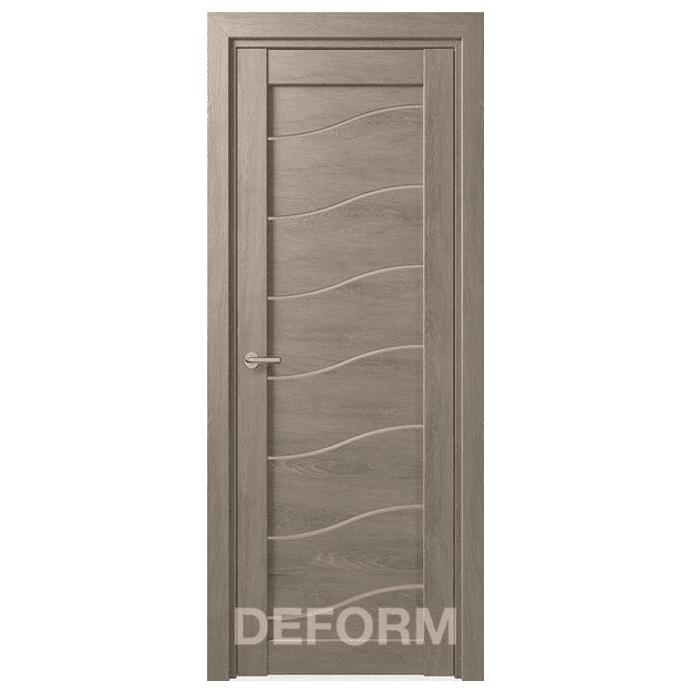 Межкомнатная дверь Экошпон Deform D2. Дуб шале седой