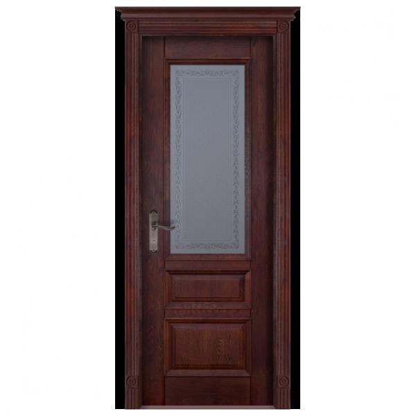 Межкомнатная дверь Массив дуба Аристократ 2. Махагон