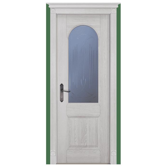 Межкомнатная дверь Массив дуба Чезана. Вайт
