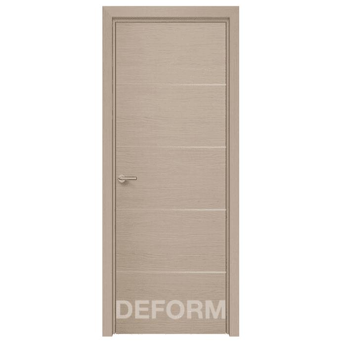Межкомнатная дверь Экошпон Deform H12. Дуб французский капучино