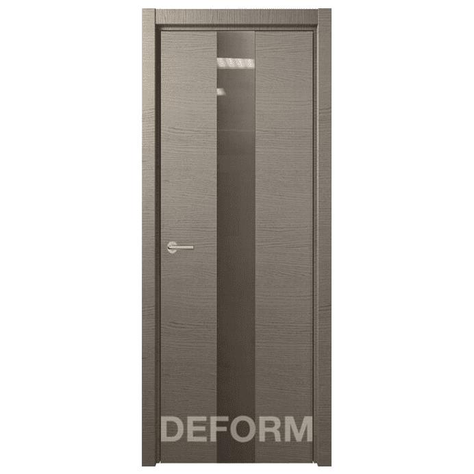 Межкомнатная дверь Экошпон Deform H4. Дуб французский серый