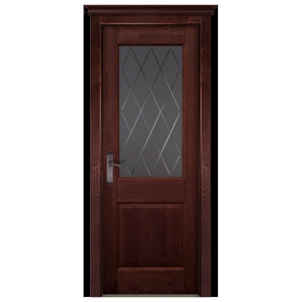 Межкомнатная дверь Массив сосны Элегия. Махагон
