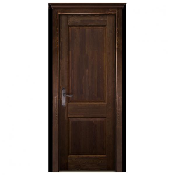 Межкомнатная дверь Массив сосны Элегия 2. Античный Орех