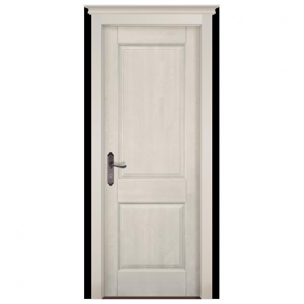Межкомнатная дверь Массив ольхи Элегия 2. Белый (эмаль)