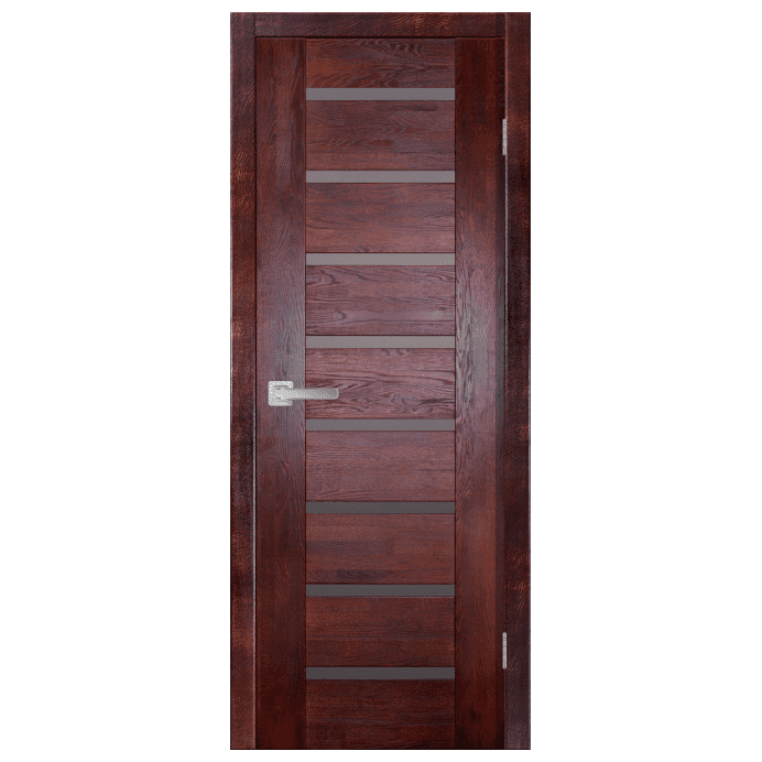 Межкомнатная дверь Массив дуба Хай-тек 1. Махагон