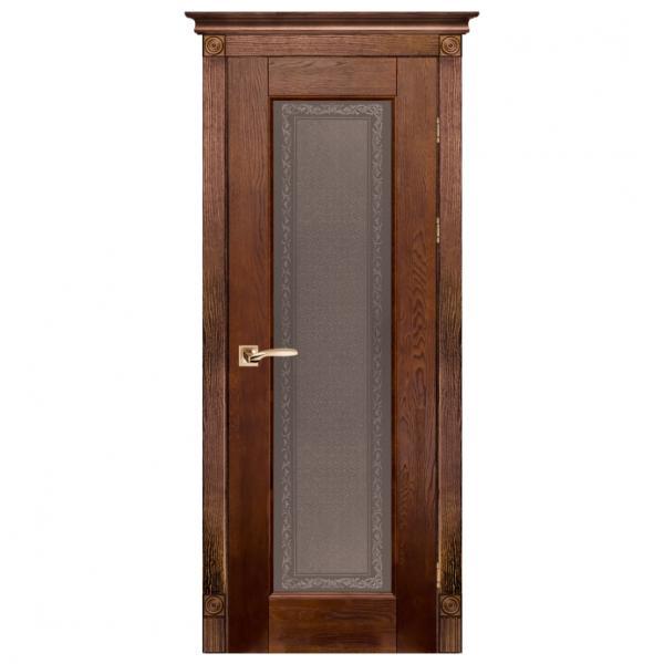 Межкомнатная дверь Массив дуба Классик 3. Античный Орех