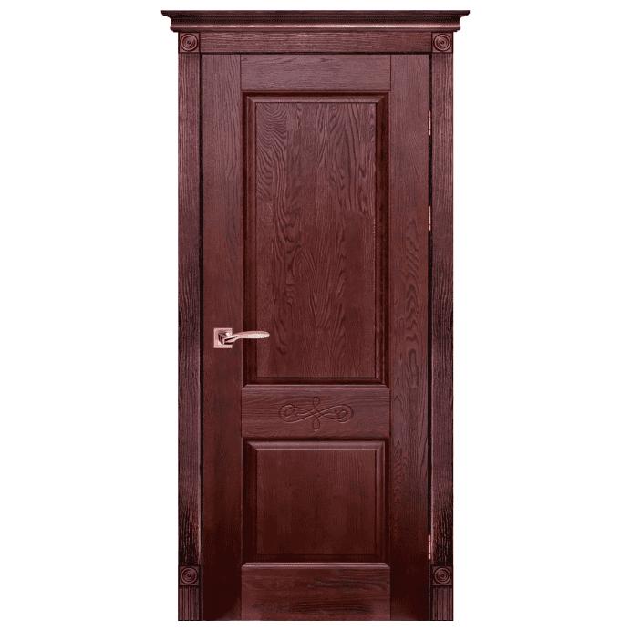 Межкомнатная дверь Массив дуба Классик 4. Махагон