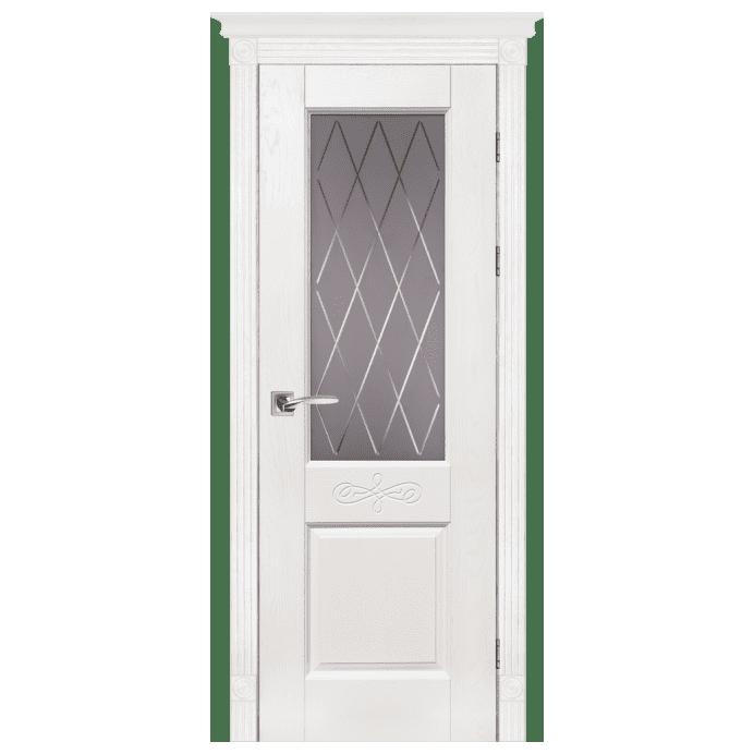 Межкомнатная дверь Массив дуба Классик 5. Вайт