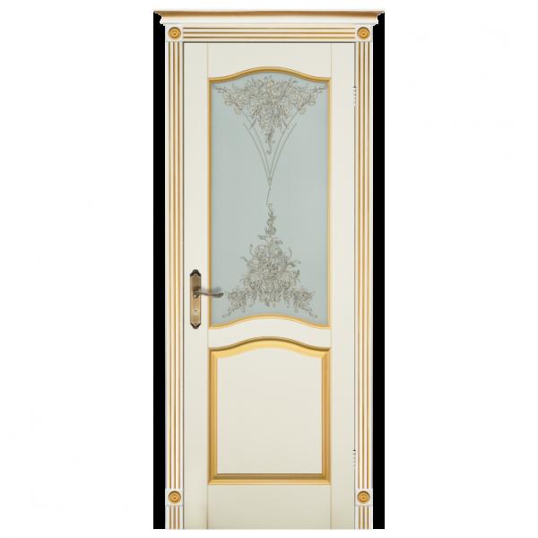 Межкомнатная дверь Массив ольхи Лео 2. Слоновая кость