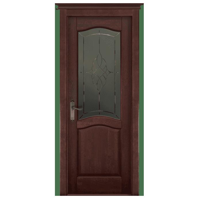 Межкомнатная дверь Массив ольхи Лео. Махагон