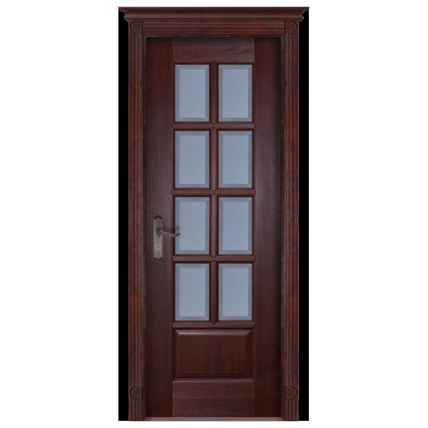 Межкомнатная дверь Массив дуба Лондон. Махагон