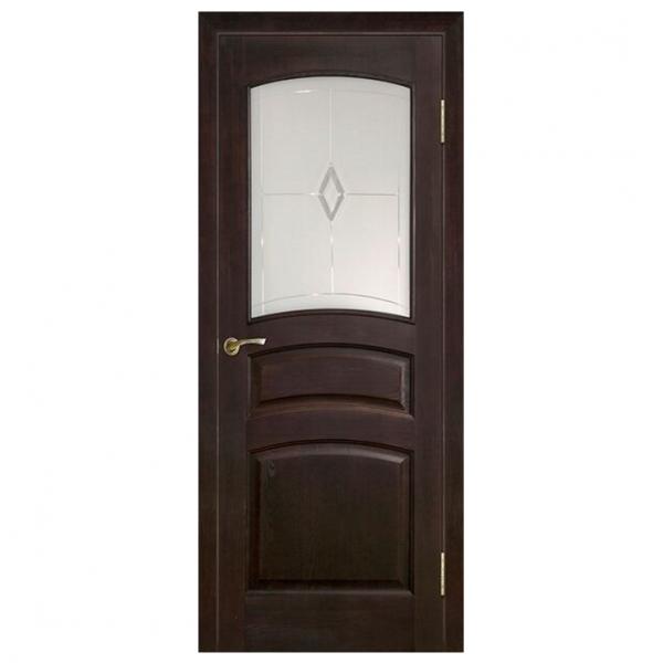 Межкомнатная дверь Массив сосны модель 16 ДО. Темный лак