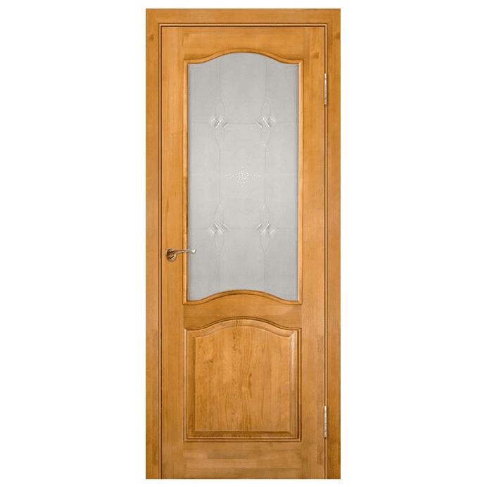 Межкомнатная дверь Массив сосны модель 7 (без рамки) ДО. Светлый лак