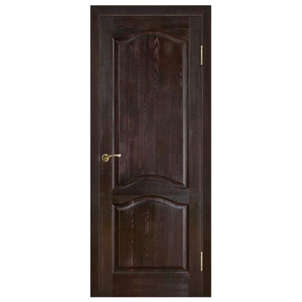 Межкомнатная дверь Массив сосны модель 7 ДГ. Темный лак
