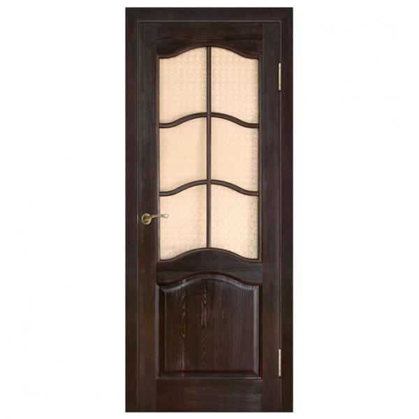 Дверь межкомнатная из массива сосны Модель 7 ДО Темный лак