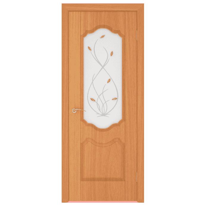 Межкомнатная дверь МДФ Орхидея. Миланский орех