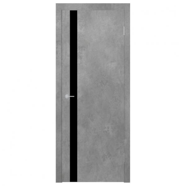 Межкомнатная дверь Экошпон Stark ST12 ДО. Бетон светлый