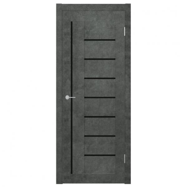 Межкомнатная дверь Экошпон Stark ST3 ДО. Бетон темный