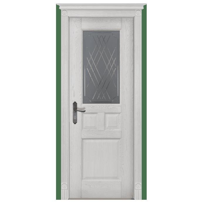 Межкомнатная дверь Массив дуба Таскана 2. Вайт