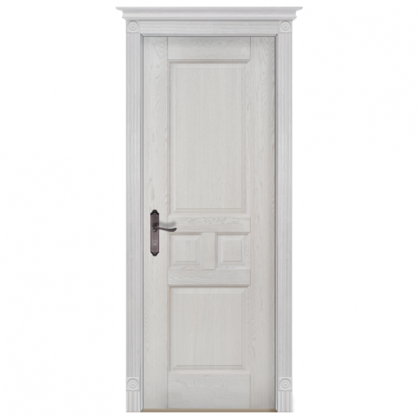 Межкомнатная дверь Массив дуба Таскана. Вайт