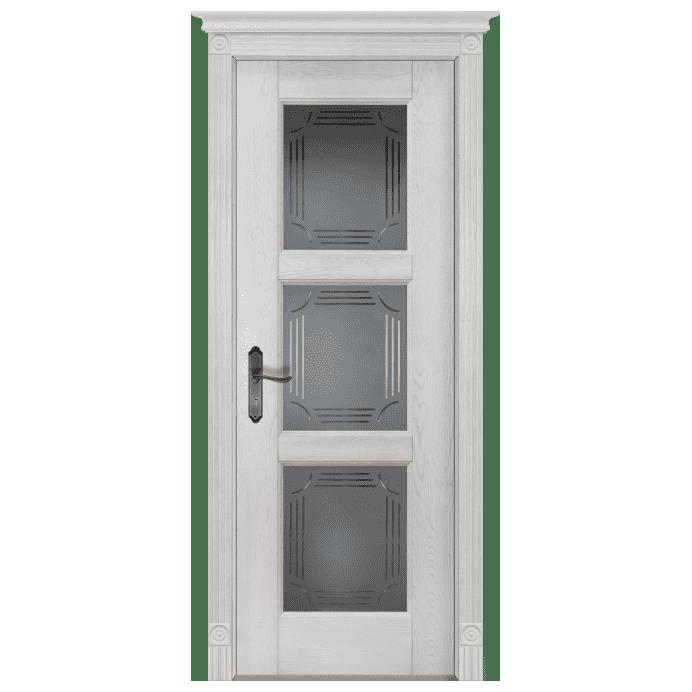 Межкомнатная дверь Массив дуба Турин. Вайт